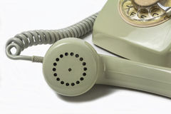 Vintage telephone receiver Stock Image