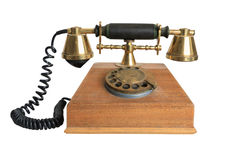 Vintage telephone receiver. Isolated on a white background Stock Photography