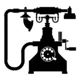 Vintage telephone retro rotary plate Antique phone Old phone Retro phone Rarity telephone Vintage phone Antique telephone Rarity. Phone icon black color vector vector illustration