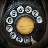 Vintage telephone rotary dial Stock Images