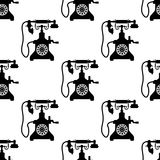 Vintage telephone seamless pattern Stock Images