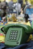 Vintage telephone at second hand market Stock Image