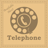 Vintage telephone sign Stock Image