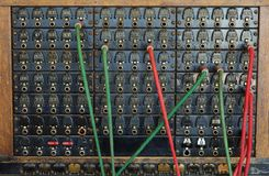 Vintage telephone switch board stock images