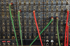 Vintage telephone switchboard Royalty Free Stock Photos