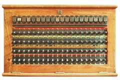Vintage telephone switchboard box Stock Images