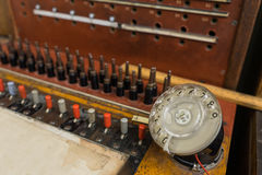 Vintage telephone switchboard Stock Image
