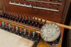 Vintage telephone switchboard Stock Image