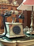 Vintage telephone on the table Royalty Free Stock Image