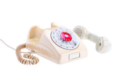 vintage telephone in use Stock Photography