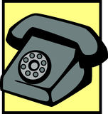 vintage telephone vector illustration Royalty Free Stock Photography