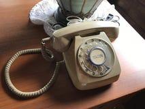 A vintage telephone. Stock Photos
