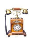 Vintage Telephone on white Stock Photos
