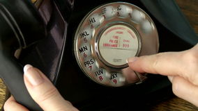 Vintage Telephone stock video footage