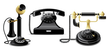 Vintage telephones Royalty Free Stock Photography