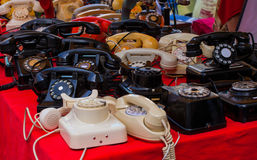 Vintage telephones Stock Images