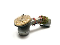 Vintage telephonist maintenance Stock Image