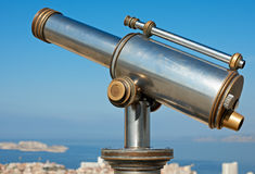 Vintage telescope Stock Photo