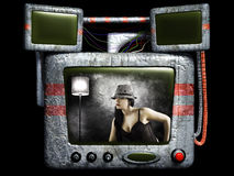 Vintage television Stock Images