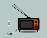 Vintage television stock illustration