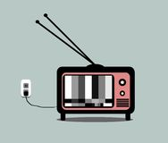 Vintage television Royalty Free Stock Images