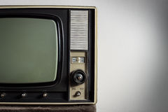 Vintage television. On white background Royalty Free Stock Photography