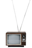 Vintage Television With Antenna Stock Photography