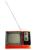 Vintage Television with Antenna royalty free stock photography