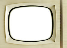 Vintage television background. Old vintage television with blank screen - grunge background Royalty Free Stock Photos