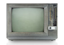 Vintage television isolate on white Stock Images