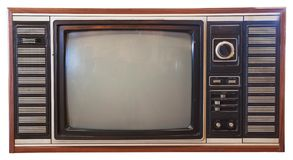 Vintage television isolated Royalty Free Stock Photography