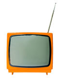 Vintage television isolated on the white background Stock Image