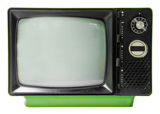 Vintage television isolated on the white background Stock Images