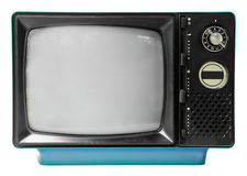 Vintage television isolated on the white background Royalty Free Stock Photo