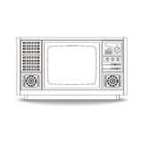 Vintage Television line icon,  illustration Stock Images