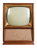 Vintage Television Over White Background Stock Photos