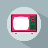Vintage television pop art design shadow. Vector illustration eps 10 Royalty Free Stock Photos