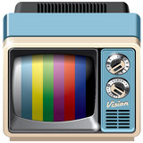Vintage television receiver icon Royalty Free Stock Image