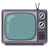 Vintage television set illustration Stock Images