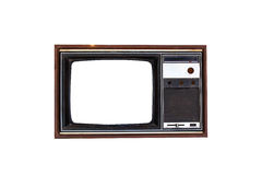 Vintage Television set isolated Stock Photography