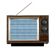 Vintage Television Without Signal royalty free stock photo
