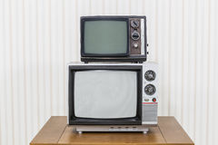 Vintage Television Stack Stock Photography