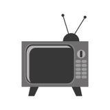 vintage television , Vector illustration over white background Stock Images