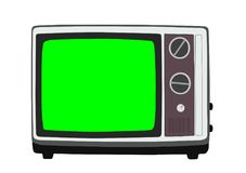 Vintage Television Vector Illustration Royalty Free Stock Photography