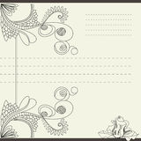 Vintage template. For note paper Royalty Free Stock Photography