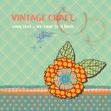 Vintage Template Background. Cute scrapbook elements. vector illustration Vector Illustration