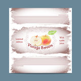 Vintage template candy packaging. Royalty Free Stock Image