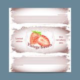 Vintage template candy packaging. Royalty Free Stock Photo