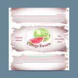 Vintage template candy packaging. Royalty Free Stock Photography