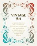 Vintage template frame vector illustration